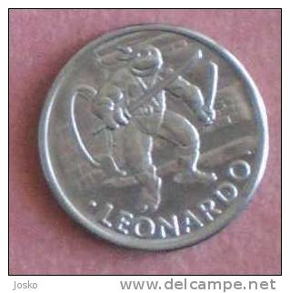 LEONARDO COWABUNGA  Token ( Teenage Ninja Mutant Hero Turtle ) * Jeton Tokens Gettone Jetons - Tokens & Medals