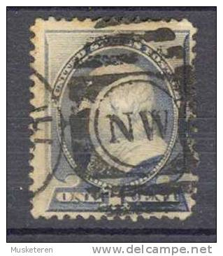 United States 1887 Mi. 53   1 C Benjamin Franklin Deluxe NW Cancel !! - Usati