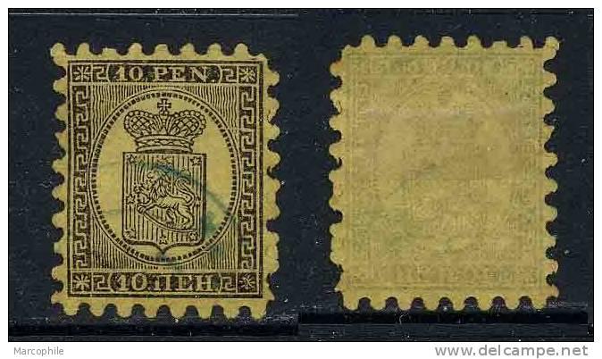 FINLANDE / 1866 - 10 P. NOIR SUR CHAMOIS # 7 Ob. / COTE 300.00 EURO - Used Stamps