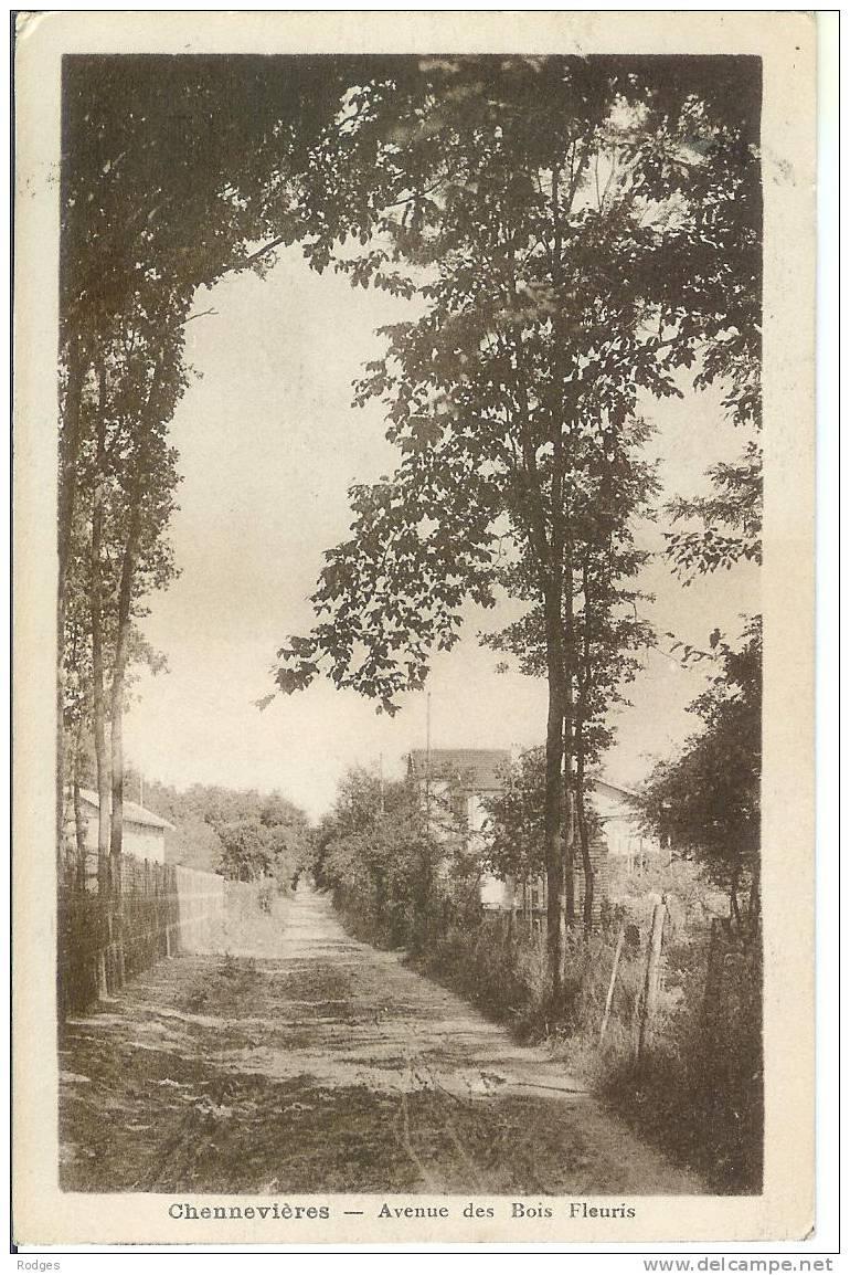 Dep 94 ; Cpa CHENNEVIERES Sur MARNE , Avenue Des Bois Fleuris - Chennevieres Sur Marne