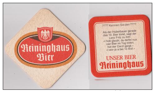 Reininghaus Österreich , B - R Bier - Als Der Huberbauer Gerade - Bierdeckel