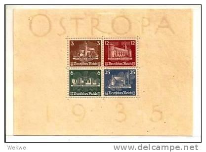 DSP112a/REICH -  DEUTSCHES  OSTROPA 1935, Block 3 (*) Super-Erhaltung Ohne Jegliche Mängel - Blocks & Kleinbögen