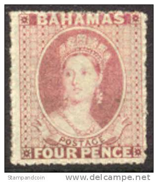 Bahamas #3 Mint Hinged 4p Victoria From 1861 - Bahamas (...-1973)