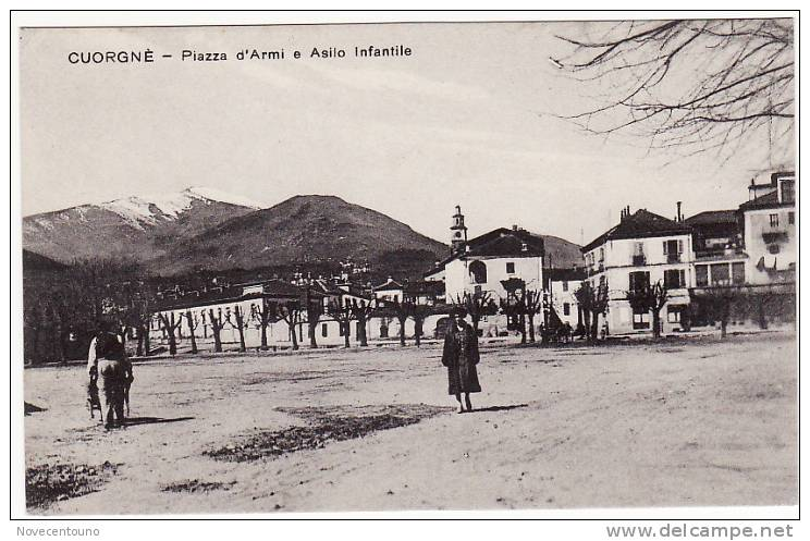 PIEMONTE - TORINO - Cuorgnè Canavese - Piazza D´Armi E Asilo Infantile - Sin Clasificación