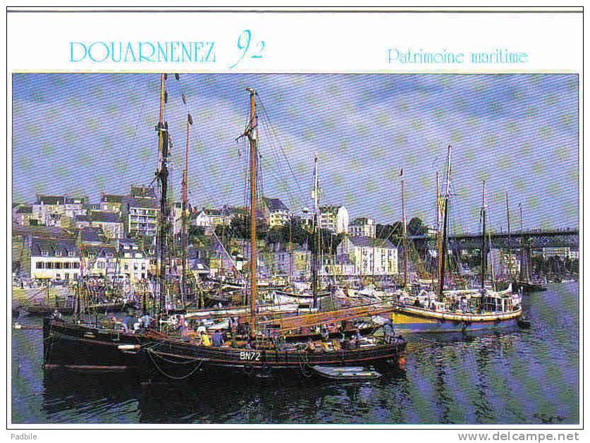 Carte Postale 29. Douarnenez  Fête De La Mer  Patrimoine Maritime   Trés Beau Plan - Douarnenez