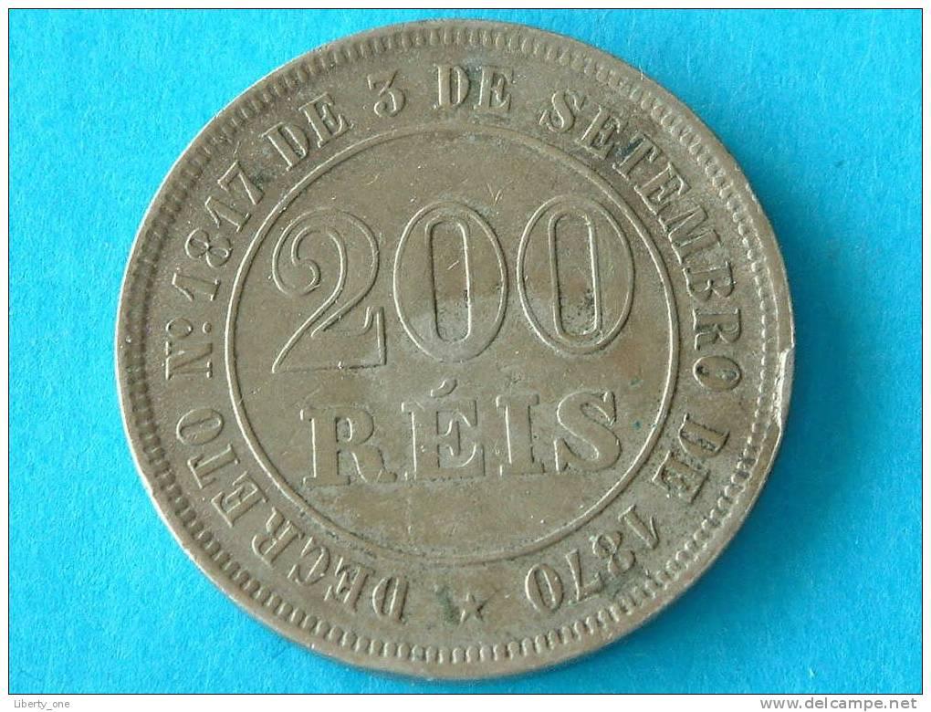1882 - 200 REIS / KM 478 ( For Grade, Please See Photo ) !! - Brazil