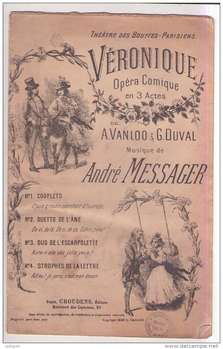 1 Partition VERONIQUE OPERA COMIQUE 3 ACTES - - Opern