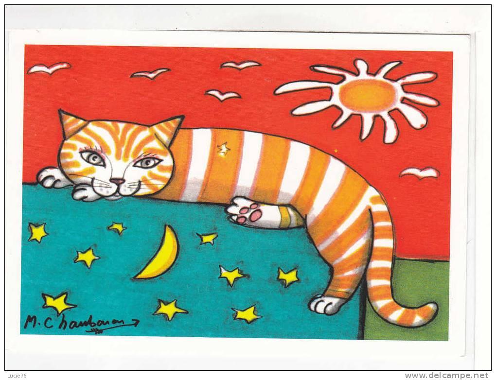 Collection : A PART CHAT ?!! - Illustration  : Les CHATS De  Mark  Chaubaron   - Chat Qui Dort .- N°  MC  1016 - Katten