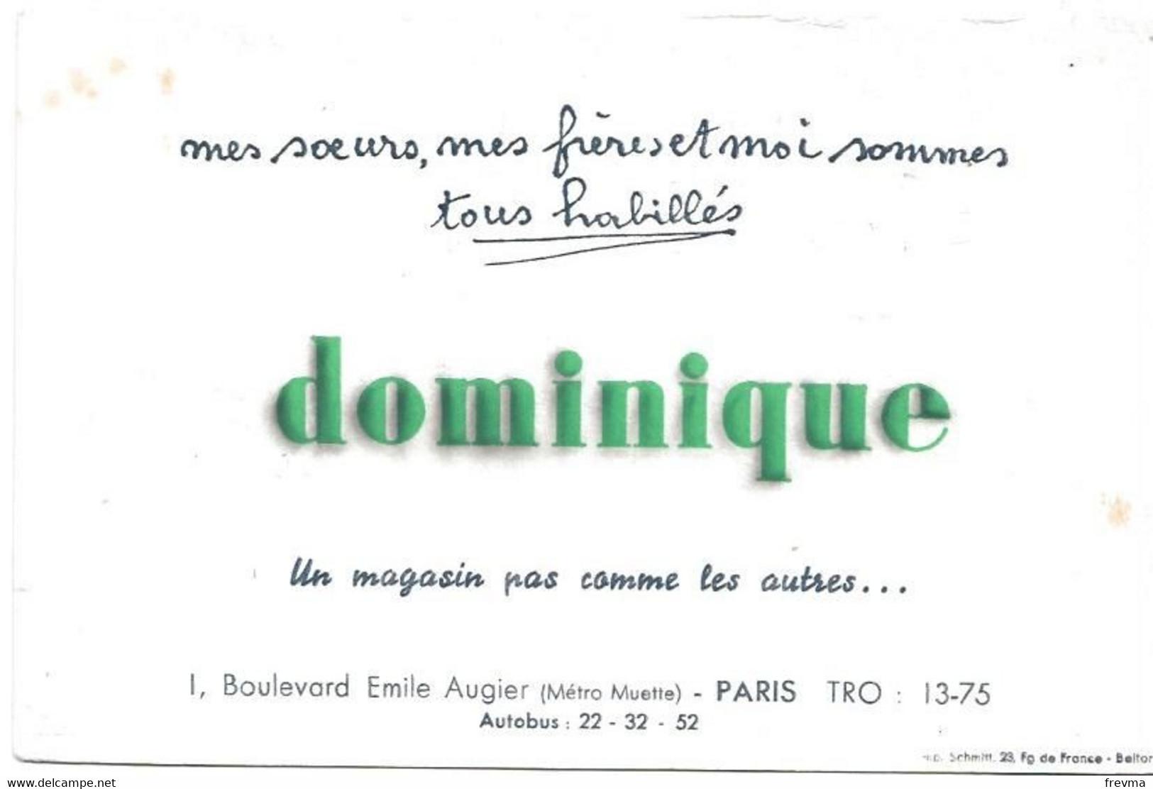 Buvard Dominique Un Magasin Pas Comme Les Autres - Buvards, Protège-cahiers Illustrés