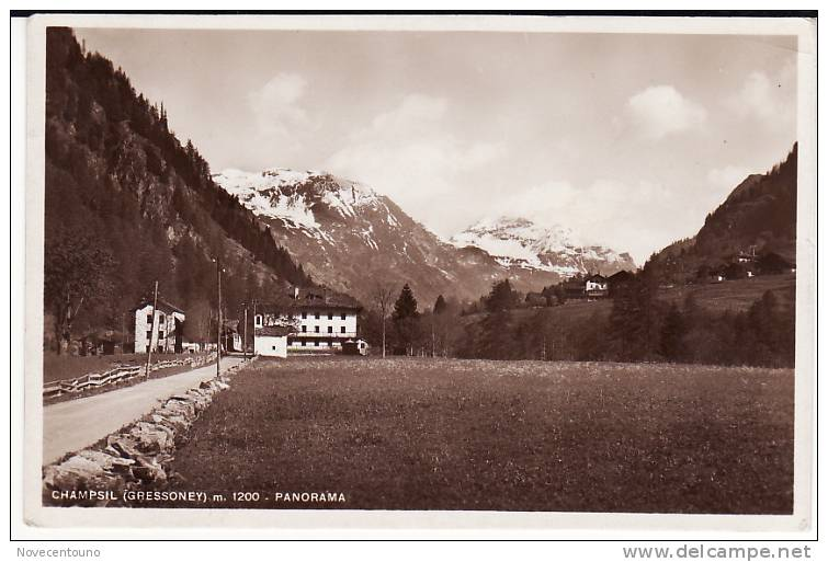 VALLE D´AOSTA -  Aosta -  Gressoney - Champsil - Panorama - Aosta