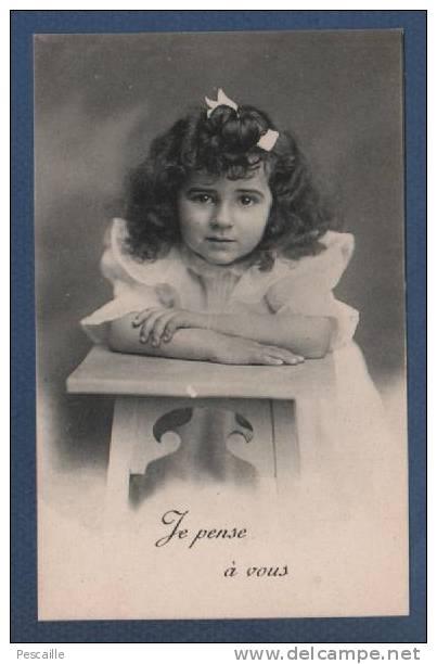 BELLE CP ENFANT - JE PENSE A VOUS - Portraits