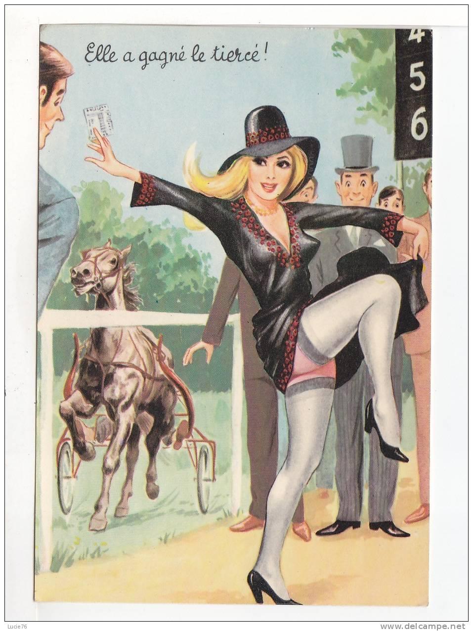 CARTE HUMORISTIQUE  PHOTOCHROM -  Elle A Gagné Le  TIERCE  -   N°  50347 - Humour