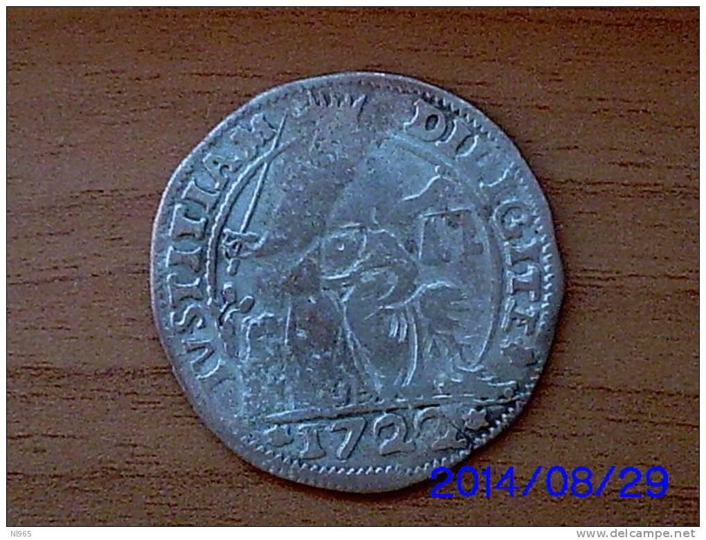 ITALY - VENEZIA VENICE - MONETAZIONE ANONIMA  In ARGENTO  LIRAZZA Da 30 SOLDI  Anno 1722 MB - Regional Coins