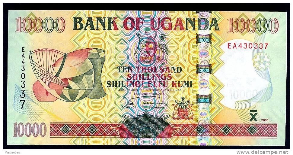 UGANDA : Banconota 10000 Scellini - P45b - 2005 - FDS - Uganda