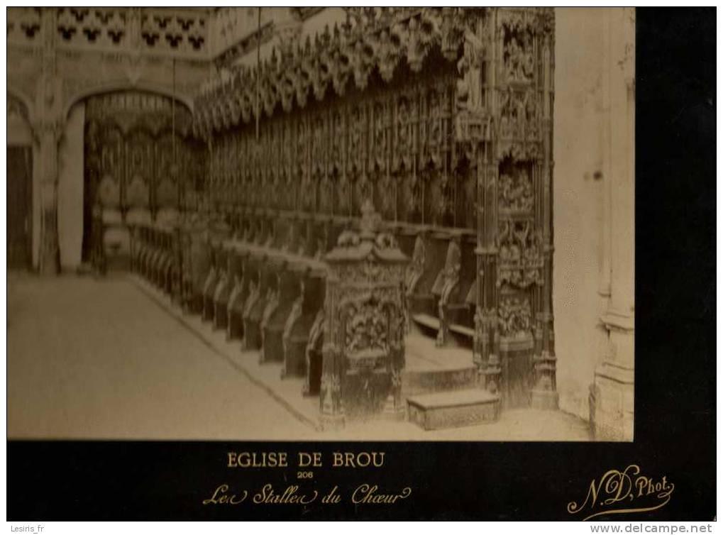TRES GRANDE PHOTOGRAPHIE SUR CARTON - EGLISE DE BROU - 206 - LES STALLES DU CHOEUR - N.D. PHO. - 1896 - Fotos