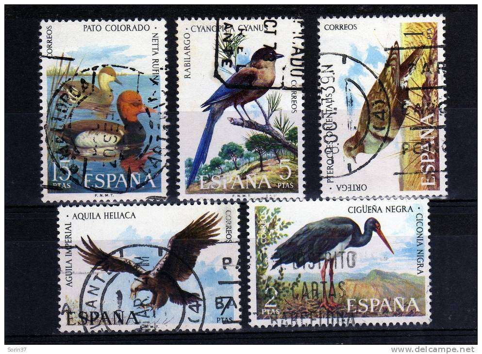 Serie Completa España  Año 1973   Yvert Nr.1788/92  Usada   Fauna Hispanica - 1931-Hoy: 2ª República - ... Juan Carlos I