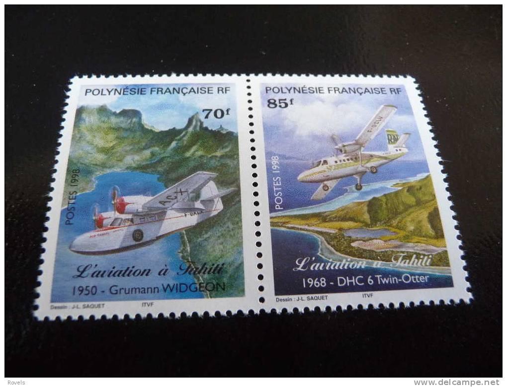 POLYNESIE FRANCAISE MNH MICHEL-NR: 756/59 AIRPLANES - Frans-Polynesië