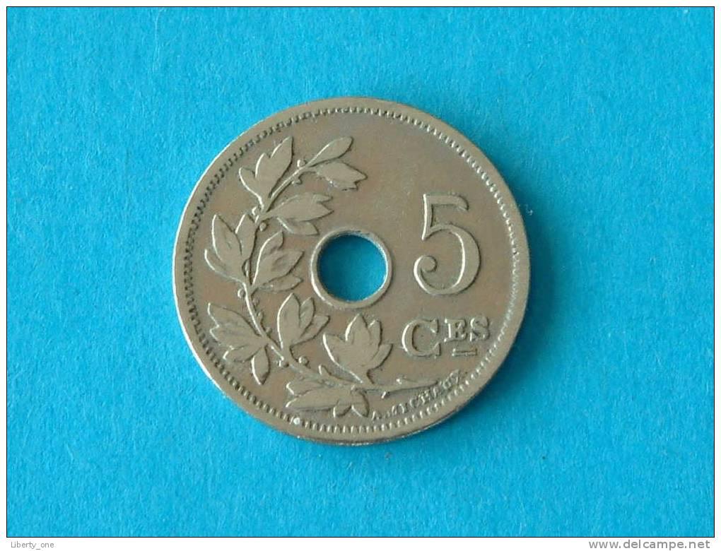 1903 FR - 5 CENTIEM ( Morin 271 - Details See Photo ) ! - 1865-1909: Leopold II