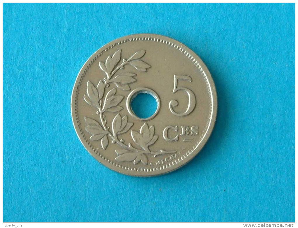 1907 FR - 5 CENTIEM ( Morin 279 - Details See Photo ) ! - 1865-1909: Leopold II