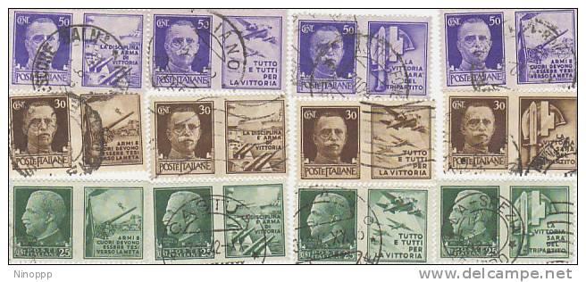 Italy-1942 To Honour Italian Army Set Used - 1900-44 Vittorio Emanuele III