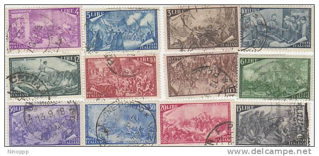 Italy-1948 Centenary Of The Risorgimento Used Set - 6. 1946-.. Republic