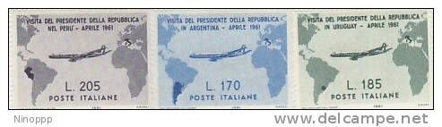 Italy-1961 Visit To South America MH - 1961-70: Mint/hinged