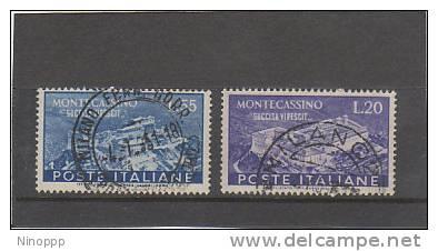 Italy-1950 Montecassino Abbey Used Set - 6. 1946-.. Republic