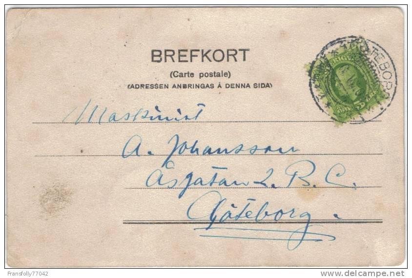 """SWEDISH BATTLESHIP - H.M. PANSARBAT """" ARAN """" - 1905 - Militaria"""