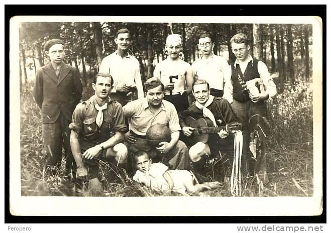 AK, Boy Scout, , Old Postcard, Photo - Pfadfinder-Bewegung