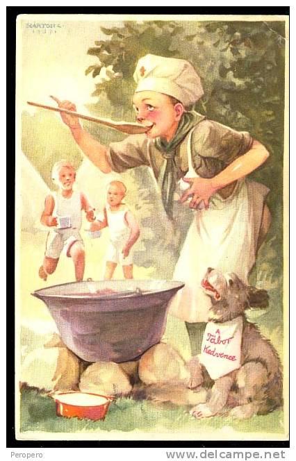 AK, Boy Scout, , Old Postcard - Pfadfinder-Bewegung