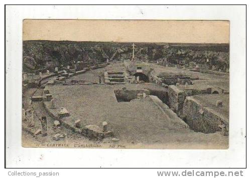 Cp, Tunisie, Carthage, L'Amphithéatre, Voyagée - Tunisie