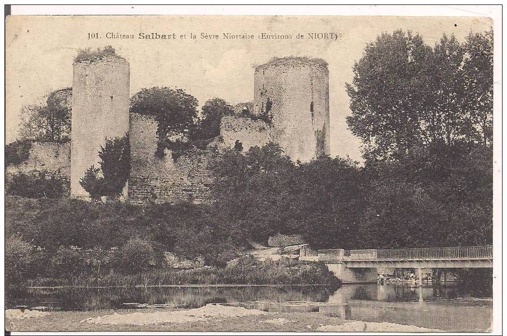 79 - NIORT - Environs - Château Salbart Et La Sèvre Niortaise - Oblitérée En 1914 - Prix Fixe - Niort