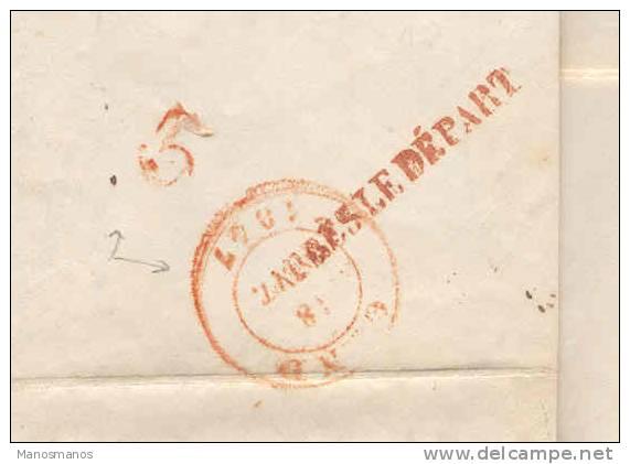 824/14 - Lettre Précurseur 1847 BOUSSU Vers GAND - TB Marque APRES LE DEPART Au Verso - 1830-1849 (Belgique Indépendante)