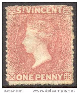 St. Vincent #11 (SG10) Mint No Gum 1p Victoria From 1863, Perf 12.5 X 14 - St.Vincent (...-1979)