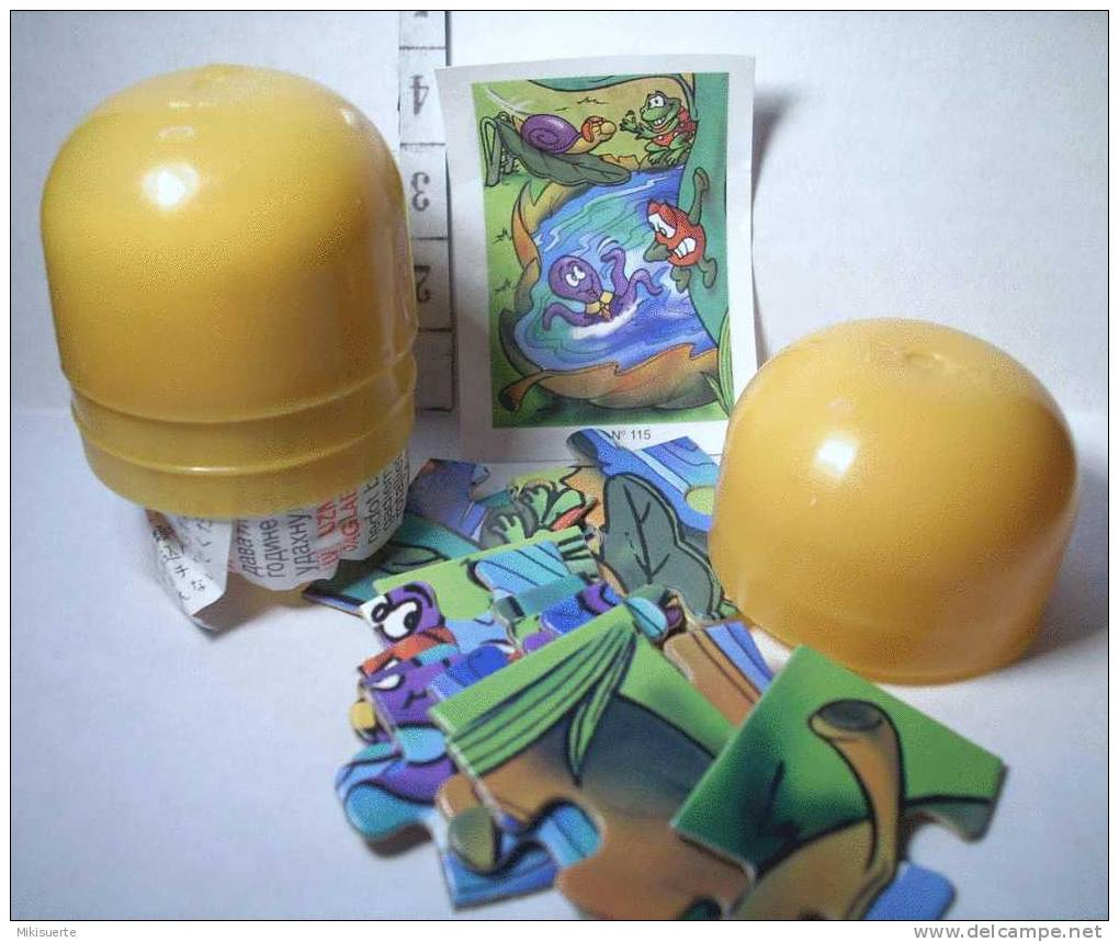 K176 Kinder E Ferrero OVETTO PUZZLE K01 N. 115 - Puzzles