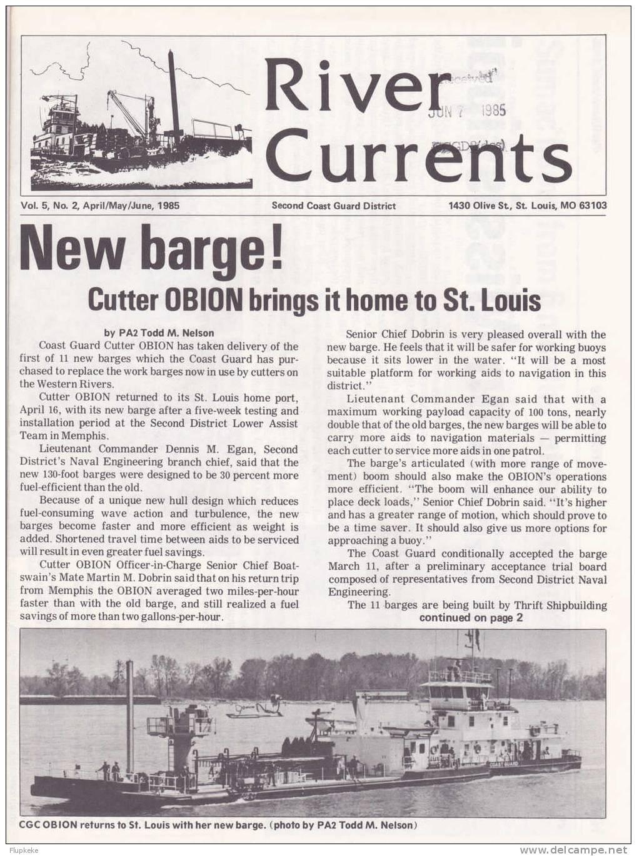 River Currents 02 April May June 1985 Vol. 5 Second Coast Guard District - US Army