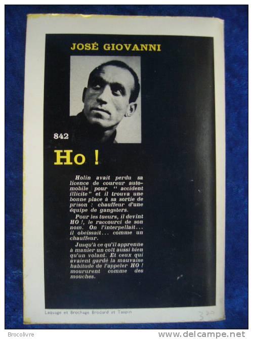 -Serie Noire-N°842-José Giovanni-Ho!- - Série Noire