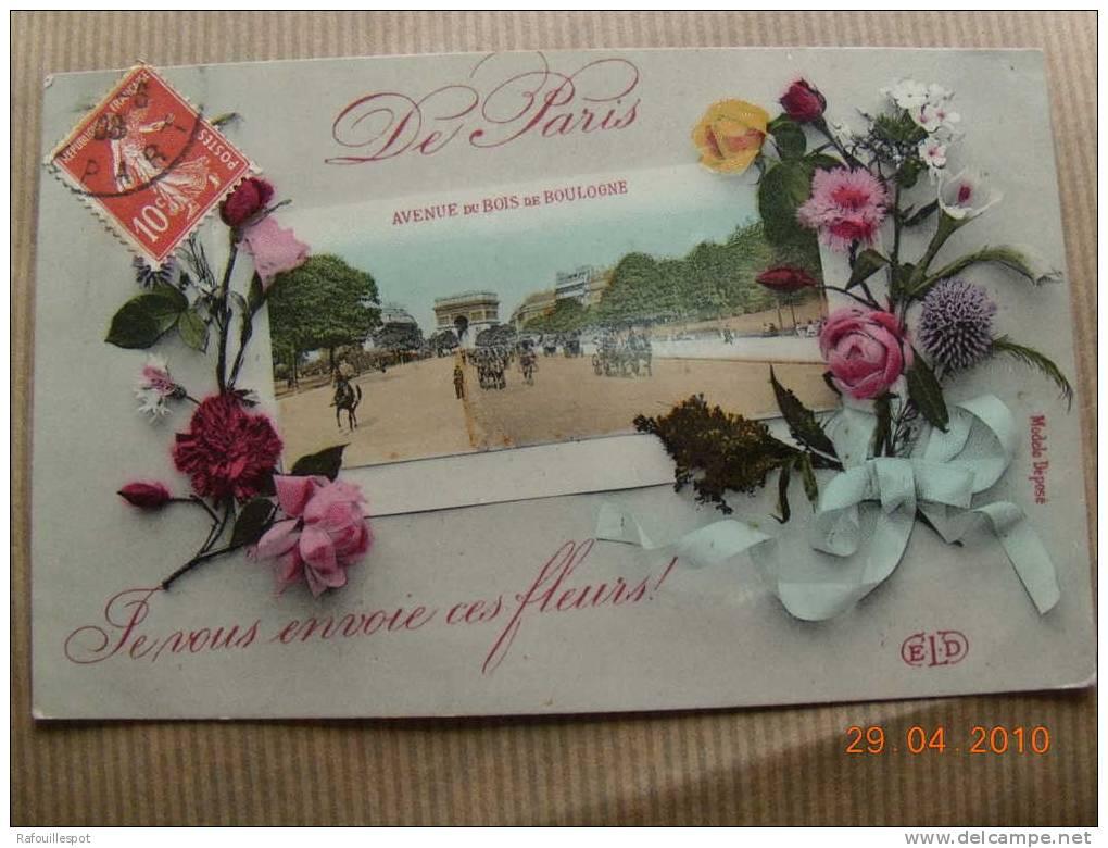 Cpa Souvenir De Paris Pensee - Gruss Aus.../ Gruesse Aus...