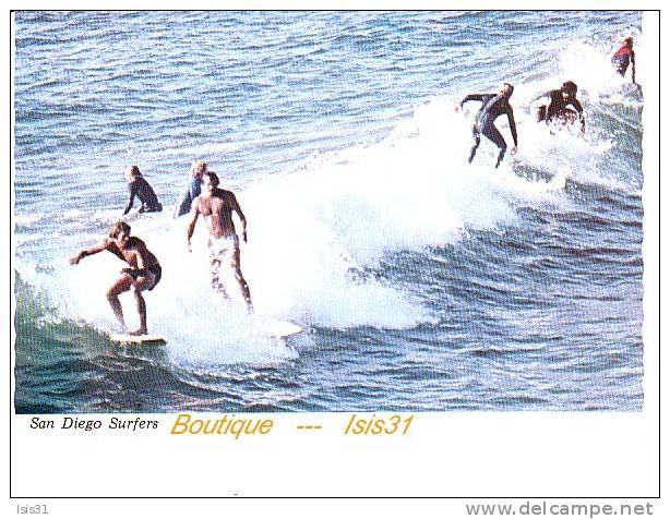Sports - RF18938 - U.S.A - San Diègo - Surf - Serfers -  Bon état - Semi Moderne Grand Format - Cartes Postales