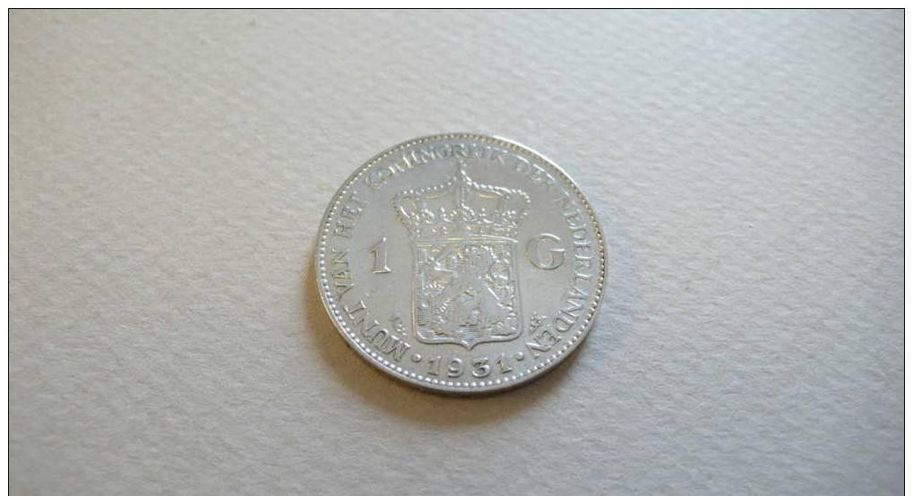 1 Gulden 1931 Wilhelmina Koningin Der Nederlanden - [ 8] Gold And Silver Coins