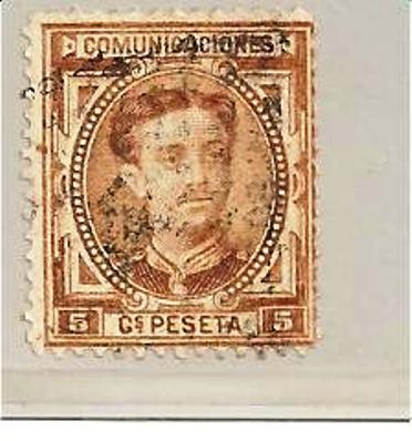 SpaMi.nr.156/  SPANIEN - Edifil No. 174 (1876)  O - Gebraucht
