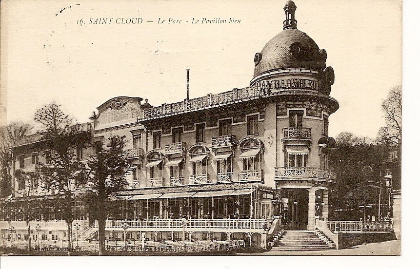 -92- Saint Cloud Le Parc Et Le Pavillon Bleu -  Timbrée Avec Demi Taxe TRES TRES RARE - - France