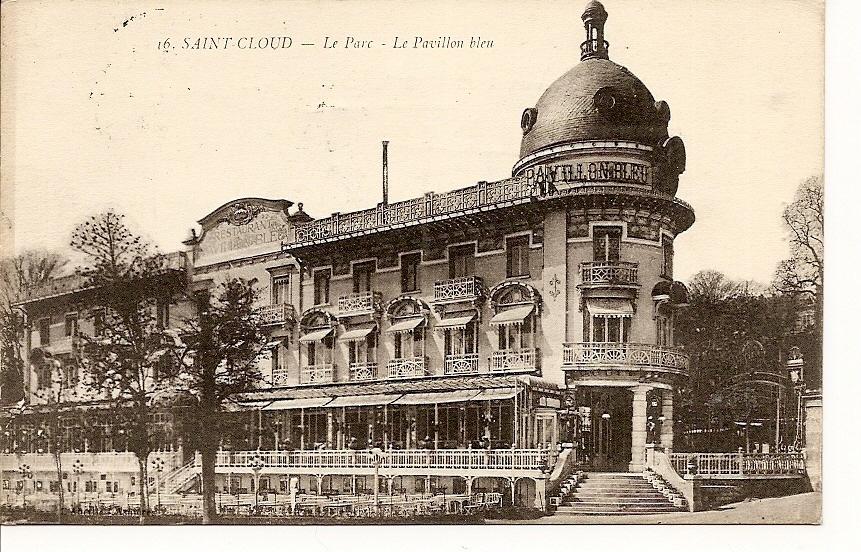 -92- Saint Cloud Le Parc Et Le Pavillon Bleu -  Timbrée Avec Demi Taxe TRES TRES RARE - - Lettres & Documents