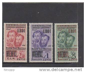 Italy-1945 C.L.N. Cuvio Fratelli Bandiera Set MH - 4. 1944-45 Social Republic