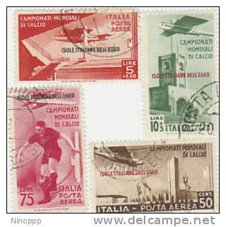 Aegean Islands-1934 Soccer Air Stamps Used - Aegean