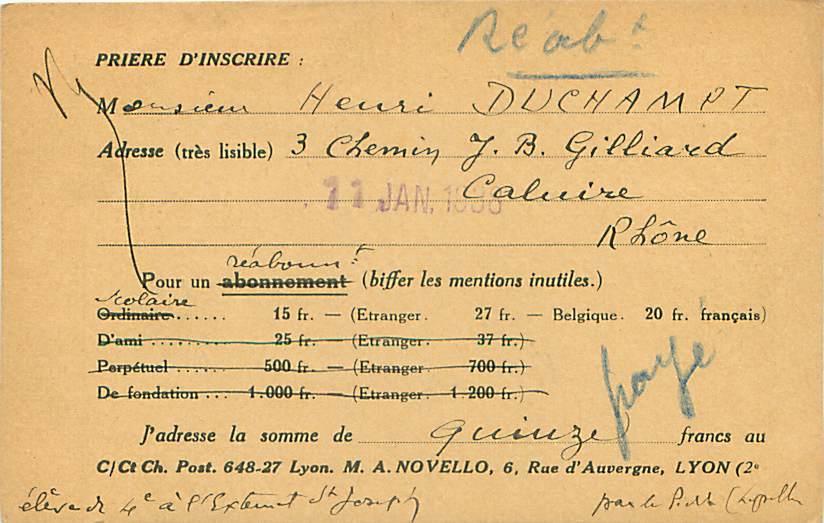 """Revue """"Jésuites Missionnaires"""" - Lyon - Zonder Classificatie"""