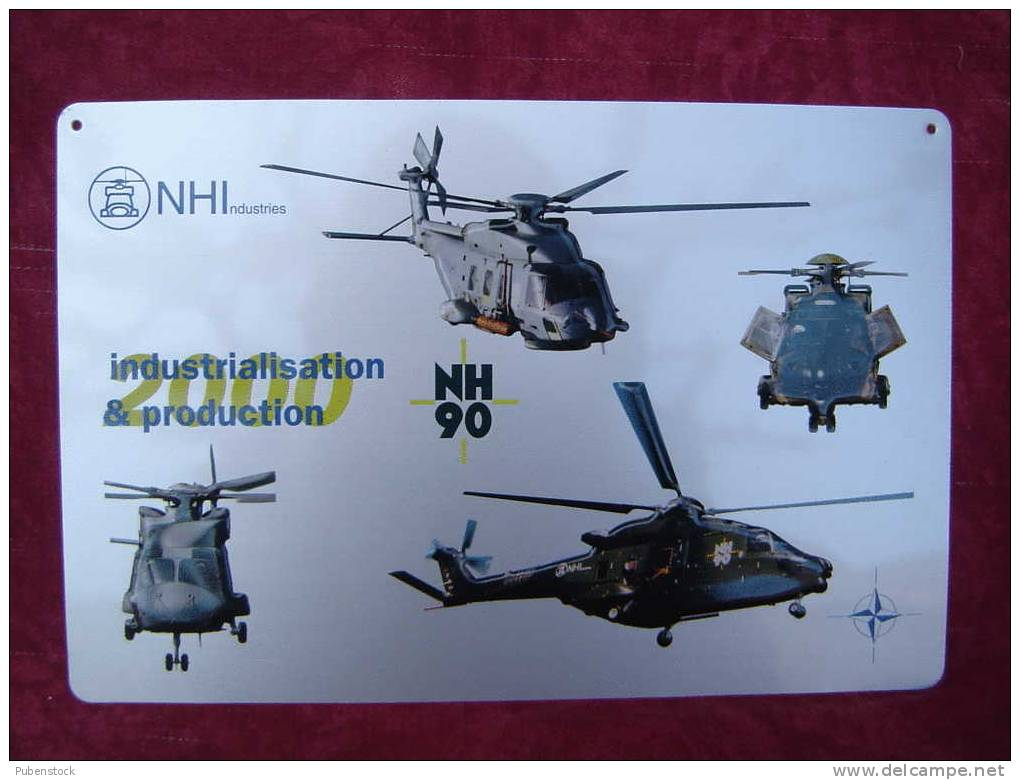 """Plaque """"HELICOPTERE""""  NH 90 - Plaques Publicitaires"""