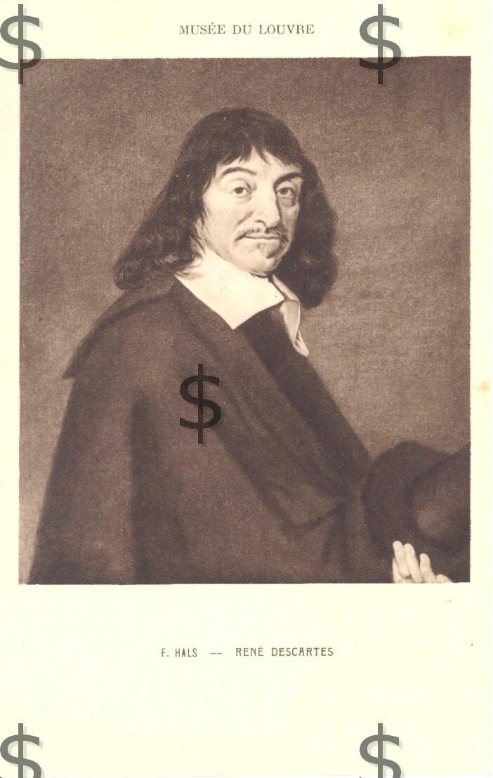 RENE DESCARTES Portrait Par F HALS Musée Du Louvre - Philosophie