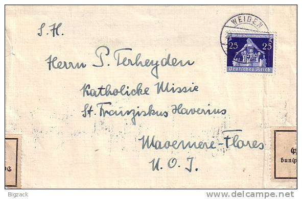 DR Brief EF Minr.620 Weiden 28.8.36 Zur Devisenüberwachung Zollamtlich Geöffnet - Briefe U. Dokumente