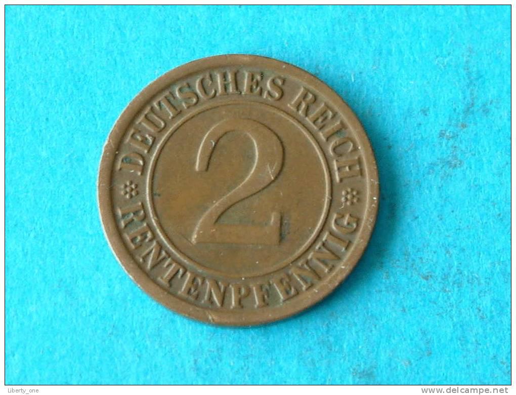 1923 G - 2 RENTENPFENNIG / KM 31 ( For Grade, Please See Photo ) ! - 2 Rentenpfennig & 2 Reichspfennig